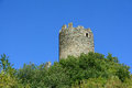 Brissogne castle ruins central keep aosta valley italy Stock Photos