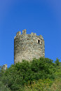 Brissogne castle ruins central keep aosta valley italy Stock Images