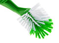 Bristles of a cleaning brush close view the new on white background Royalty Free Stock Image