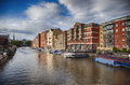 Bristol by bank of avon river evening water Royalty Free Stock Images