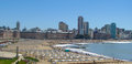 Bristol Beach, Mar del Plata, Buenos Aires Royalty Free Stock Photo