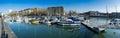 Bristol city centre docks a panoramic view of united kingdom Royalty Free Stock Photos