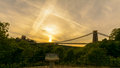 Bristol Clifton Suspension Bridge at Golden Hour A