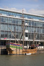 Bristol england march the replica of cabot s fifteenth c century ship matthew moored along river avon in on Stock Image