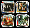 Britain Beatles Pop Group Postage Stamps Royalty Free Stock Photo