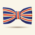 Britain flag bow tie vector illustration of Royalty Free Stock Image