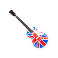 Britain flag guitar isolated on white background see my other works in portfolio Royalty Free Stock Images