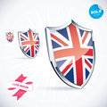 Britain flag i love illustration Stock Photo