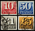 Britain Postage Due Stamps Royalty Free Stock Photography