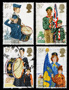 Britain youth organisations postage stampa set of used printed in celebrating organistaions showing the girls brigade boys brigade Stock Photos