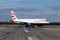 British airways airbus a prague february taxiing to take off from prg on february if the flag carrier airline of Stock Images