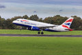British airways airbus a taking off from rotterdam airport Stock Photos