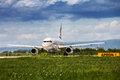 British airways airbus taxiing at zagreb airport a on pleso runway in croatia in preparation of taking off Stock Photos