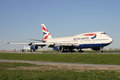 British Airways Boeing 747 Jumbo Jet Royalty Free Stock Images