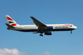British airways boeing er london heathrow united kingdom may abritish with the registration g bnwi on approach to london heathrow Royalty Free Stock Photo
