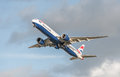 British airways boeing heathrow london uk january retracting its undercarriage on take off from heathrow airport london uk Royalty Free Stock Photography