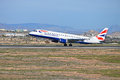 British airways the flight from london heathrow touching down at alicante airport Stock Images