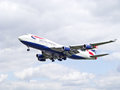British Airways jumbo jet Royalty Free Stock Photo