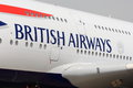 British airways letters on aircraft detail of lettering an airbus a Stock Image