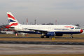 British airways prague january airbus a taxis to take off from prg airport on january aircraft with special red nose livery Royalty Free Stock Image