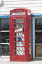British callbox on falkland islands in port stanley Royalty Free Stock Photo