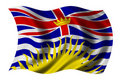 British Columbia Flag Royalty Free Stock Images