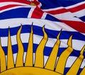 British Columbia Flag Royalty Free Stock Photo