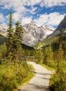 British columbia mountain trail canada trekking landscape in canadian rockies yoho national park Stock Image