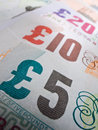 British Currency Close-up Royalty Free Stock Photo