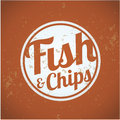 British fast food fish and chips vintage Stock Photo