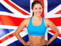 British female athlete Royalty Free Stock Photo