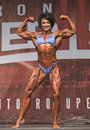 British Female Bodybuilder Shines in Toronto Contest Royalty Free Stock Photo