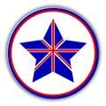 British flag as star icon. Vector United Kingdom star. Royalty Free Stock Photo