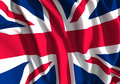 British flag a digitally illustrated flapping Royalty Free Stock Image