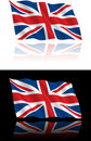 British Flag Flowing Royalty Free Stock Photography