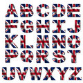 British flag font Royalty Free Stock Photo