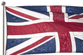British flag isolated on white background Stock Images