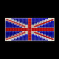 British Flag jewelry ornament design Royalty Free Stock Photography