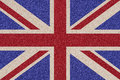 British flag made ​​of colored decorative sand of great britain Stock Images