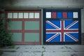 British Flag painted on Garage Door Royalty Free Stock Photo