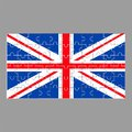 British flag from puzzles on a gray