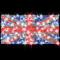 British flag in rhinestones Stock Images