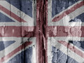 British grunge flag Royalty Free Stock Photo