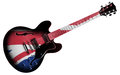 British guitar an electric with flag isolated on a white background Royalty Free Stock Photo