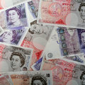 British high value pound notes Royalty Free Stock Photography