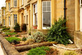 British houses traditional and the front gardens Royalty Free Stock Images