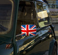 British an image of a car with the flag Royalty Free Stock Photo