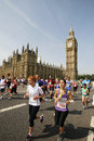 British km london marathon uk july runners in uk fun the k th year about runners from all over the world joined Stock Photography