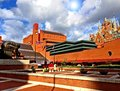 The british library london england a photograph image showing court yard at in also in photo is st pancras international railway Royalty Free Stock Image