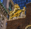 British Lion Faneuil Meeting Hall Freedom Trail Boston Massachusetts Royalty Free Stock Photo